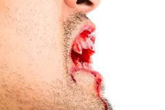 halloween vampire on white background - stock photo