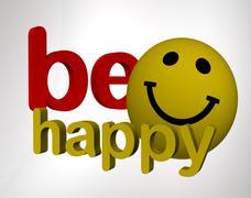 Be happy Stock Illustration