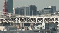 Stock Video Footage of Traffic on Rainbow bridge in Tokyo, Japan