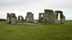 View of the Stonehenge, UK Stock Footage