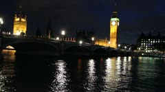 House of Parliament, London, England Stock Footage