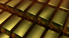 GOLDBARS gold bars Stock Footage