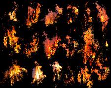 Fire templates Stock Photos