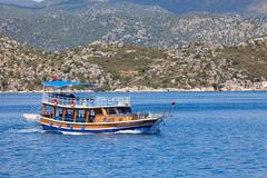 Turkish pleasure boat Stock Photos