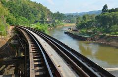 The death railway or the thailand-burma railway on world war ii Stock Photos