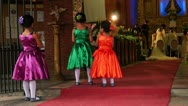 Little girls watching wedding ritual Stock Footage
