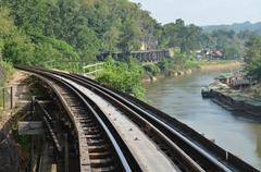 death railway in kanchanaburi, thailand - stock photo