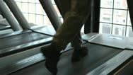 In the Gym: Treadmill 5 Stock Footage