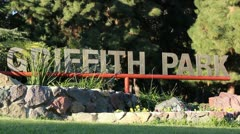 Griffith Park Sign Stock Footage
