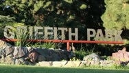 Stock Video Footage of Griffith Park Sign