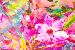 Abstract  hand painted flower  watercolor background Stock Photos