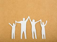 paper cut of family - stock photo