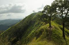 top view of mountain, khao chang puak, kanchanaburi, thailand - stock photo