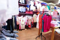 Interior of clothing store Stock Photos