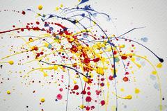 Abstrakti värikäs tilkka vesiväri tausta Kuvituskuvat