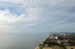 Top view of the beach. thailand, hua hin Stock Photos