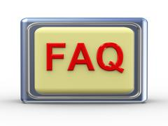 Frequently asked question Stock Illustration