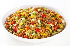 lentil salad - stock photo
