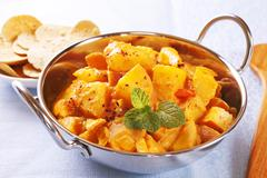 bombay potato curry - stock photo
