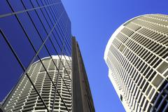 sydney australia tall buildings skyscrapers - stock photo