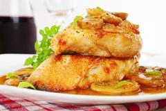 Stock Photo of chicken marsala italian food