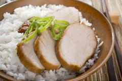 Stock Photo of chinese food char siu pork