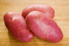 Red desiree potatoes Stock Photos