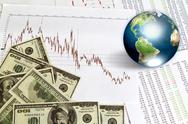 Dollar and business graph with earth (elements of this image furnished by nas Stock Illustration