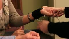 Wrist setup of lie detector Arkistovideo