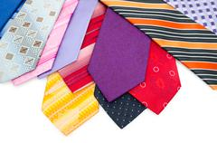 colourful mens ties - stock photo