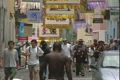Salvador de Bahia, Brazil, street scene with people Stock Footage