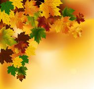 Stock Illustration of Autumn background with leaves