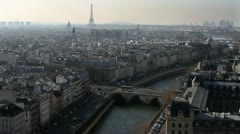Eiffel Tower Paris France, Aerial Stock Footage