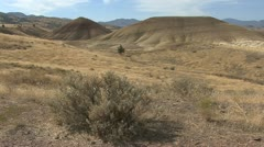 John Day fossil beds painted hills 2 Stock Footage