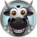 Cute cow head cartoon Stock Illustration