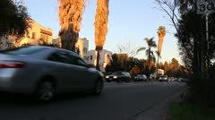 Street with traffic in Los Angeles - stock footage