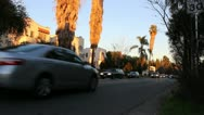 Street with traffic in Los Angeles Stock Footage