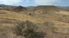 John Day fossil beds painted hills 3 Stock Footage