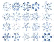 Snowflake Vectors collection - stock illustration