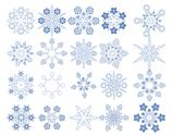 Snowflake Vectors collection Stock Illustration