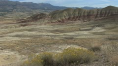 John Day fossil beds painted hills 5 Stock Footage