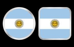 Argentina flag icon Stock Illustration
