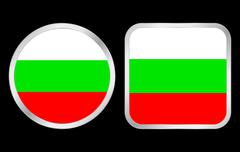 bulgaria flag icon - stock illustration