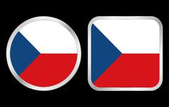 Stock Illustration of czech republic flag icon