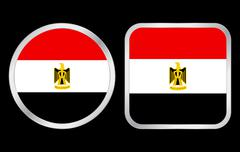 egypt flag icon - stock illustration