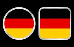 germany flag icon - stock illustration