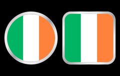 ireland flag icon - stock illustration