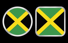 Stock Illustration of jamaica flag icon