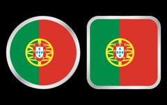 Portuga flag icon Stock Illustration