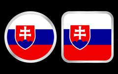 Slovakia flag icon Stock Illustration